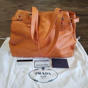 Prada Tote Shoulder bag authentic Medium size